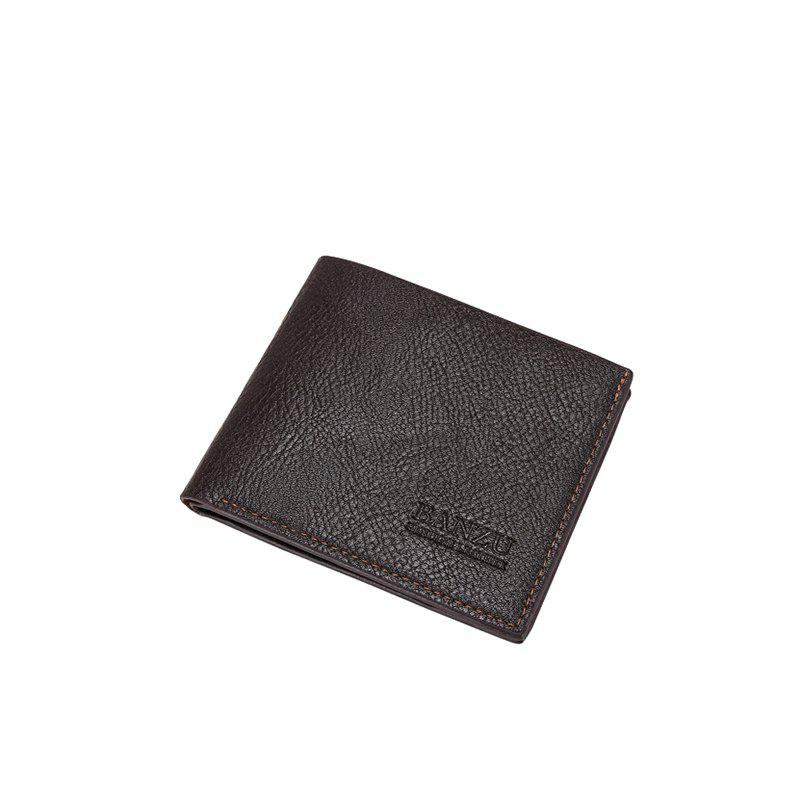 Sale Men's Simple Business Casual Wallet Leather Card Holder Purse