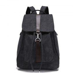 Classic Vintage Canvas Double Shoulder Bag -