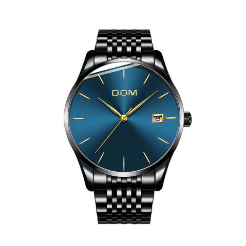 Cheap DOM m - 11bk 4892 Business Casual Waterproof Steel Band Men Watch