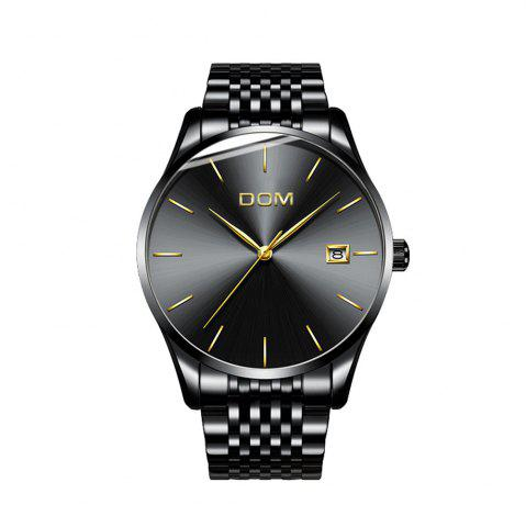Outfit DOM m - 11bk 4892 Business Casual Waterproof Steel Band Men Watch
