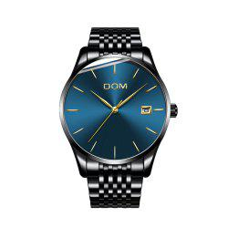 DOM m - 11bk 4892 Business Casual Waterproof Steel Band Men Watch -