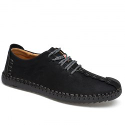 Lace-Up No Glue Pure Manual Big Shoes -
