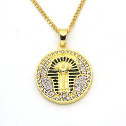 New Round Egyptian Pharaoh Hip Hop Necklace -