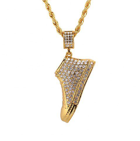 New New Full 3D Shoes Pendant Necklace