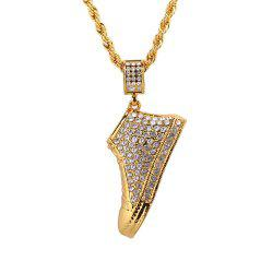 New Full 3D Shoes Pendant Necklace -