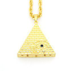 New Stereoscopic Triangle Pyramid Eye Pendant Necklace -