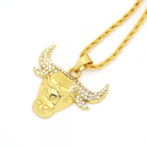 New Diamond Exaggerated Hip-Hop Long Tau Necklace -