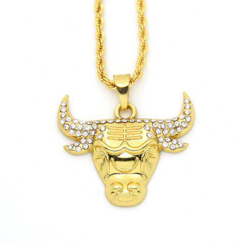 Discount New Diamond Exaggerated Hip-Hop Long Tau Necklace