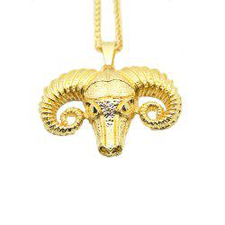 New Men Yak Head Pendant Necklace -