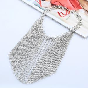 Multi Tassel Pendant Chain New Clavicle  Necklace -
