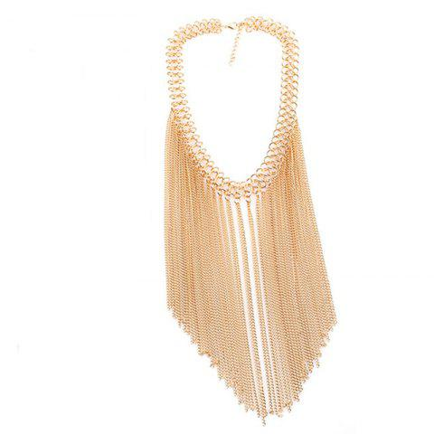 Unique Multi Tassel Pendant Chain New Clavicle  Necklace