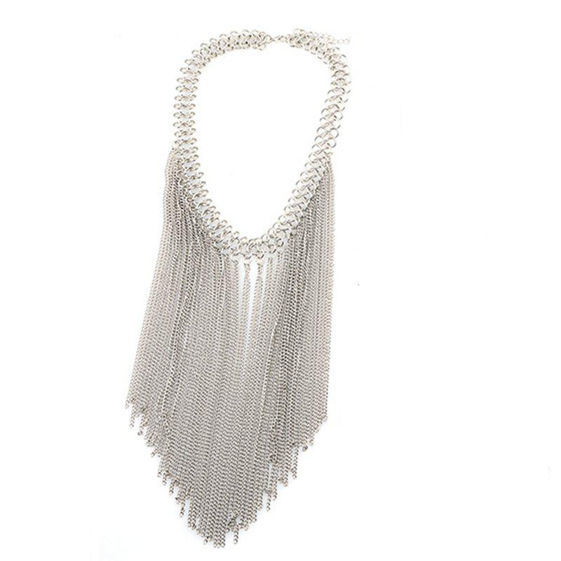 Outfits Multi Tassel Pendant Chain New Clavicle  Necklace