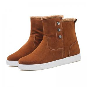 Autumn and Winter Boots with Ankle Boots and Plush Cotton Men's Boots -