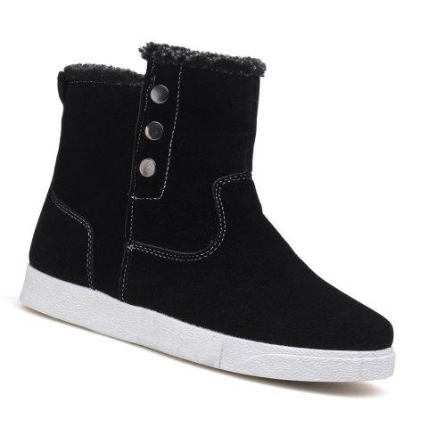 Fashion Autumn and Winter Boots with Ankle Boots and Plush Cotton Men's Boots
