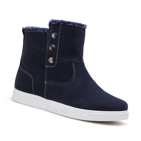 Unique Autumn and Winter Boots with Ankle Boots and Plush Cotton Men's Boots
