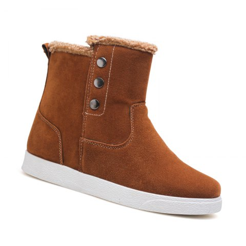 Discount Autumn and Winter Boots with Ankle Boots and Plush Cotton Men's Boots