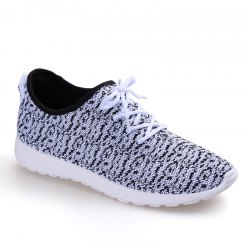 Korean Version  Trend Lovers Flying Net Sneakers -