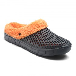 Lovers' Slippers Fluffy Hole Shoes -