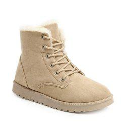 Women Suede Leather Low Heel Ankle Boots -