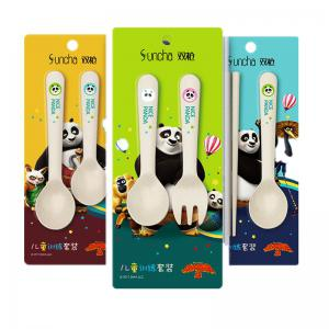 Suncha Rice Husk Fork and Spoon Tableware Set -