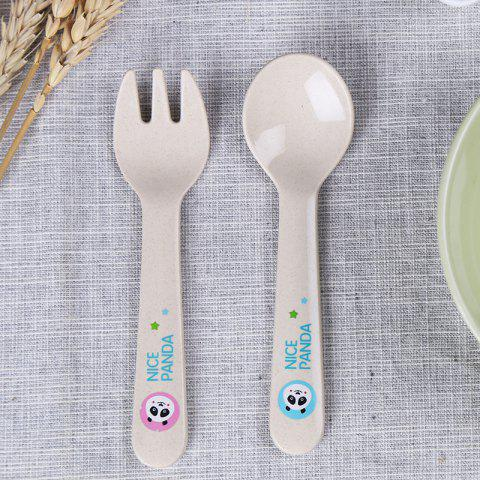 Latest Suncha Rice Husk Fork and Spoon Tableware Set