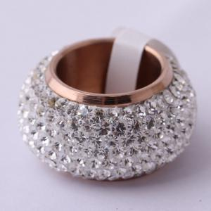 Full Diamond Luxury Classic Fashion Stainless Exaggerated Ring -