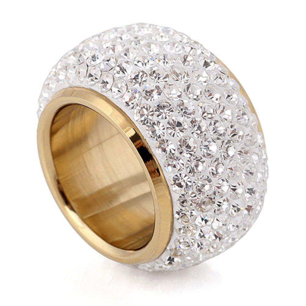 Trendy Full Diamond Luxury Classic Fashion Stainless Exaggerated Ring