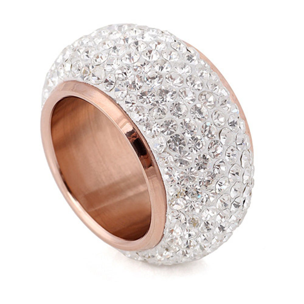 Cheap Full Diamond Luxury Classic Fashion Stainless Exaggerated Ring