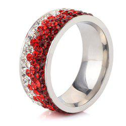 Lady Hypoallergenic Stainless Steel Multi-layered Diamond Fashion Titanium Steel Wedding Ring -