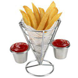 French Fry Holder with Double Sauce Stand Cone Fries Holder Holds  Popcorn Vegetables Fruit and Other Appetizers -