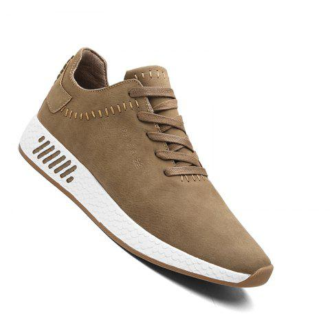 Online Men Casual outdoor Trend for Fashion Lace Up Leather Shoes