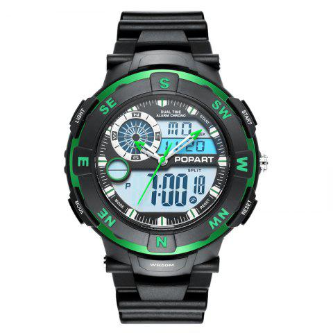 Shop POPART POP831AD Trendy Sports Rubber Band Men Quartz Watch