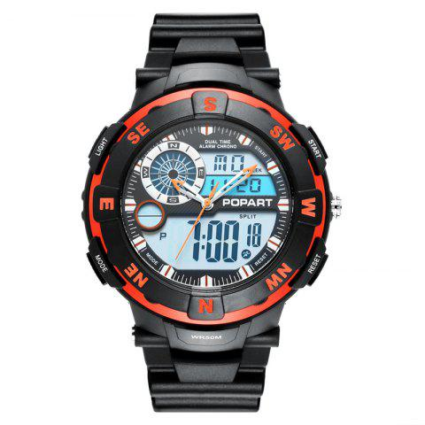 Discount POPART POP831AD Trendy Sports Rubber Band Men Quartz Watch