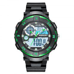 POPART POP831AD Trendy Sports Rubber Band Men Quartz Watch -