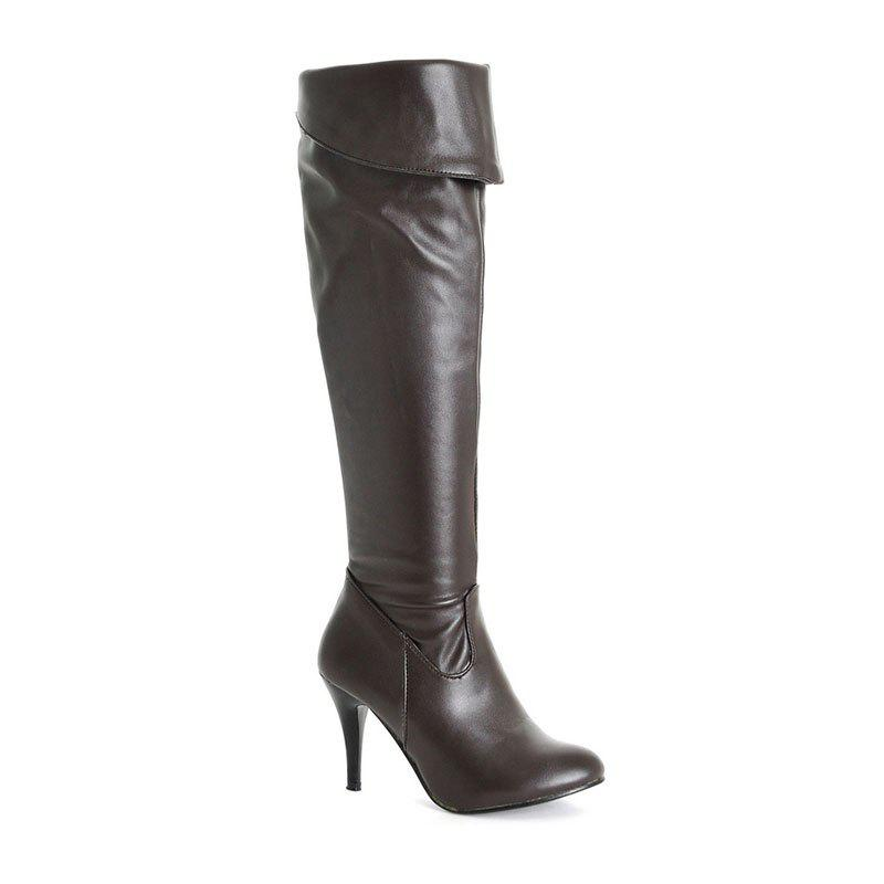 Online New Large Size Knee High Heeled Knight Boots