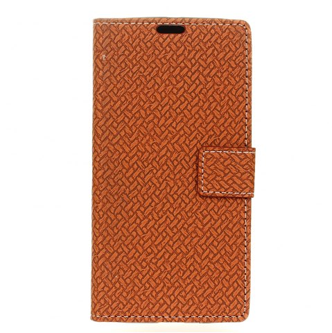 Affordable Woven Pattern Texture Wallet Leather Stand Cover Phone Cases for iPhone X