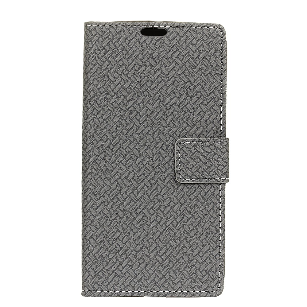 Outfit WovenPattern Texture Wallet Leather Stand Cover Phone Cases for iPhone X