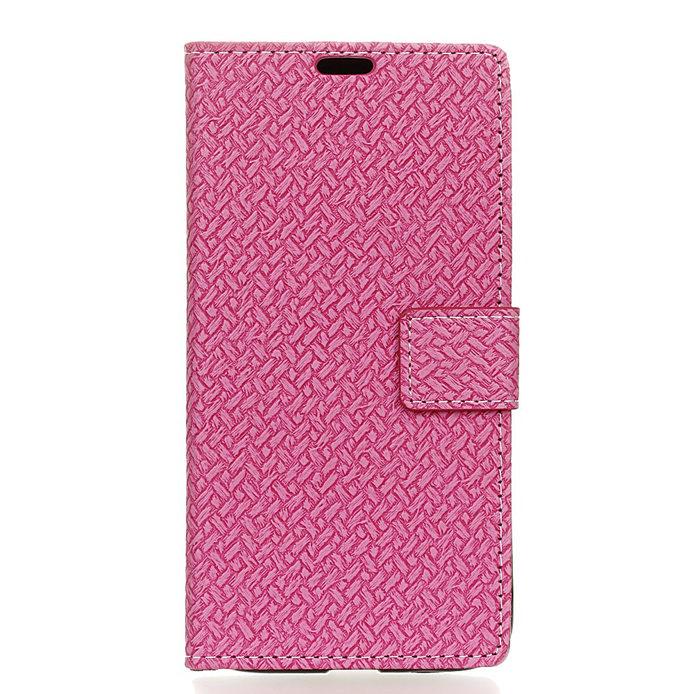 Shop WovenPattern Texture Wallet Leather Stand Cover Phone Cases for iPhone X