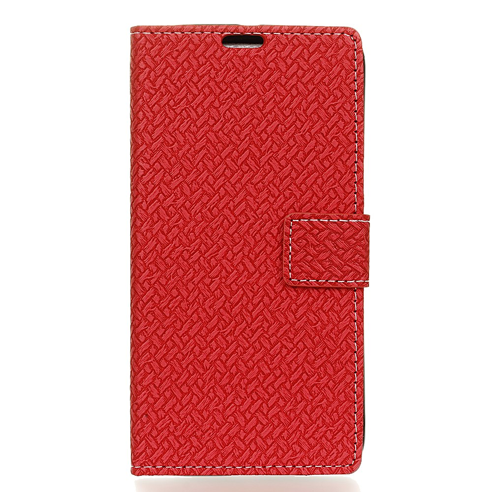 Cheap Woven Pattern Texture Wallet Leather Stand Cover Phone Cases for  iPhone 6 / 6S