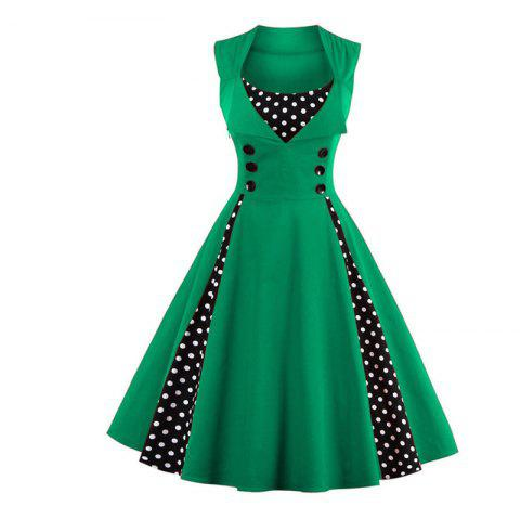 Retro Green Dress Cheap Shop Fashion Style With Free Shipping ...
