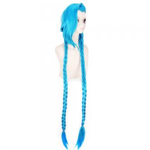 Blue Color Long Braid Women Hallowen Christmas Party Cosplay Wig -