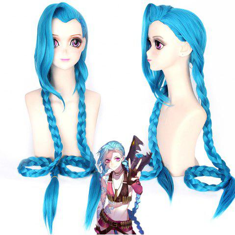 Shops Blue Color Long Braid Women Hallowen Christmas Party Cosplay Wig