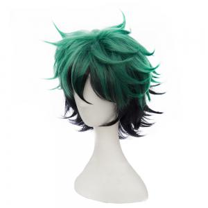 Short Green Color Halloween / Christmas Party Cosplay Wig for Men -