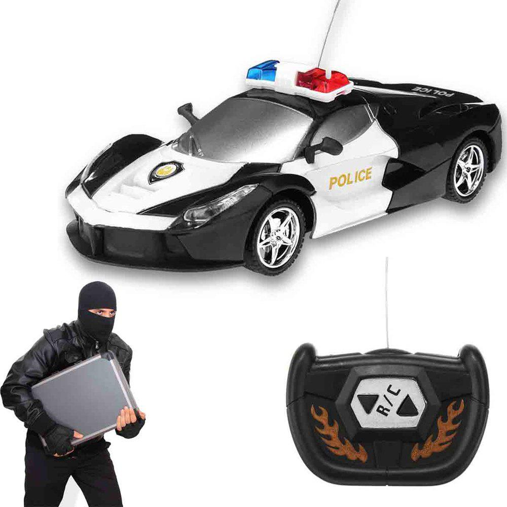 Outfit 2 Channel Wireless Remote Control RC Police Car Truck Kid Toy Birthday Gift