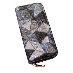 Women's Purse Colorblock Chic Geometric Ladylike Bag -