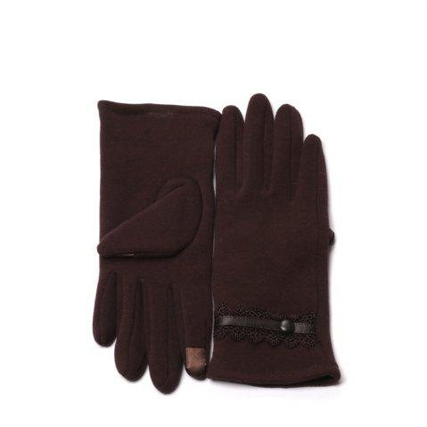 Fashion Lace Fashion Women Touch Screen Winter Single Fingers Gloves
