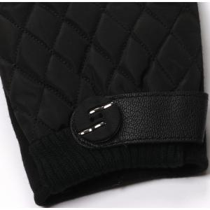 Winter Gloves for Men with Touch Screen Finger and Rhombus Pattern -