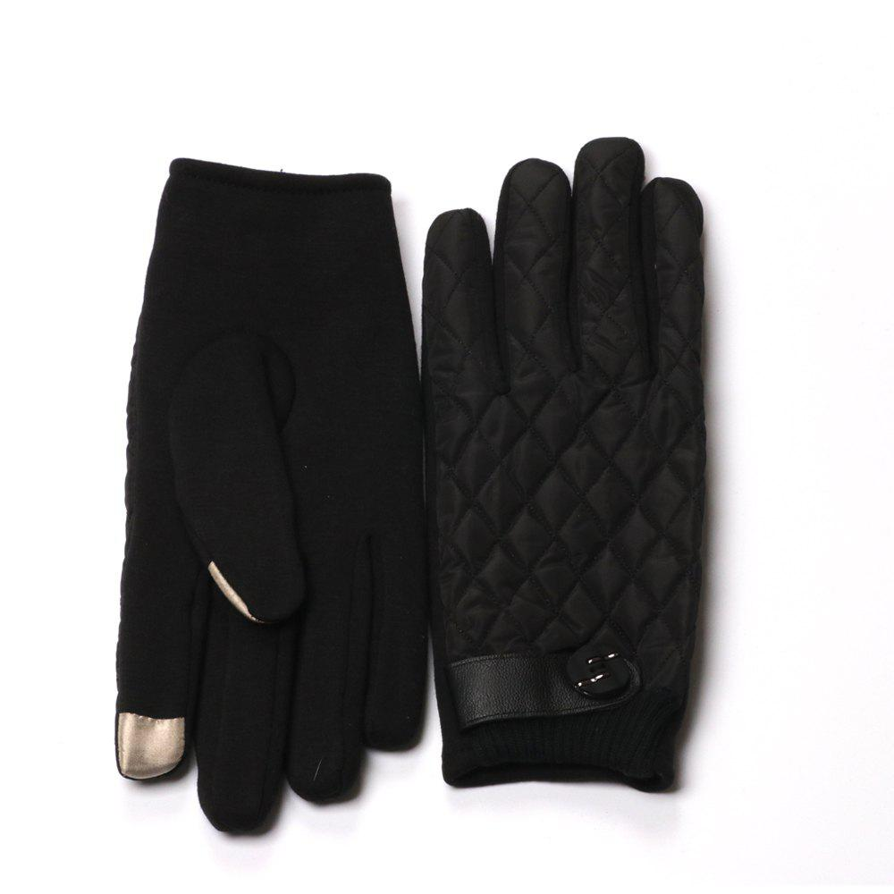 Shops Winter Gloves for Men with Touch Screen Finger and Rhombus Pattern