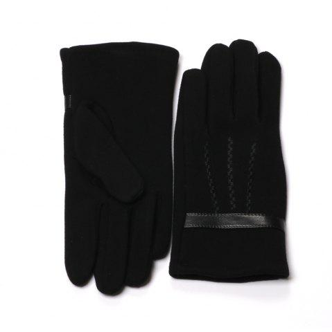 Shop Black Gloves for Men Winter Warm