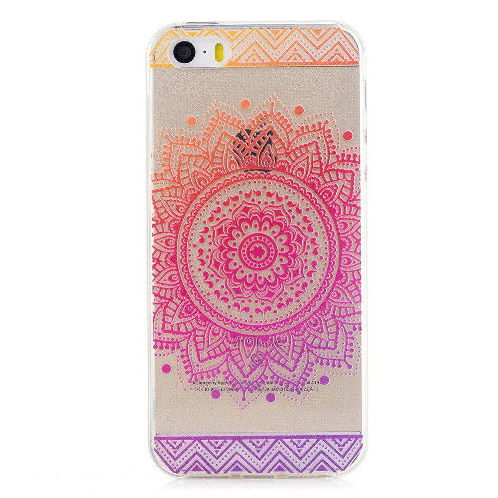 Mandala Pattern Tpu Silicone Gel Soft Clear Case Cover For Iphone 5 5s Se 5se Kickstand Series Blackblack Trendy